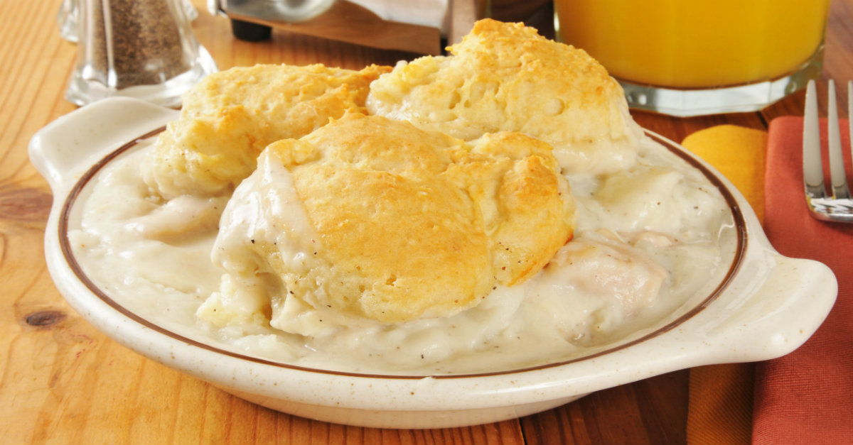 It's Not A Soup And It's Not A Casserole…This Biscuit-Topped Stew Is The Best!!